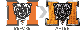 Have your logo digitized and embroidered onto custom school apparel