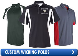 3549ad01b Our custom wicking shirts and custom wicking apparel is engineered to wick  moisture away from the skin and transport it to the outside of the fabric  where ...