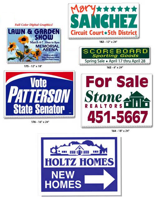 Smaller Sized Corrugated Signs