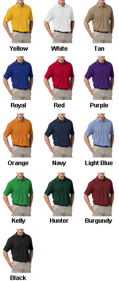 Mens Teflon Treated  Pique Polo with Pocket - All Colors