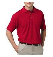 Mens Teflon Treated  Pique Polo with Pocket