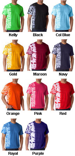 Gildan Tie-Dye Adult One-Color Fusion Tee - All Colors