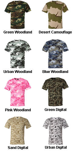 Mens Code V Camouflage T-shirt - All Colors