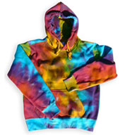 Custom Pro-Weave Tie Dye Hooded Sweatshirt Mens