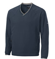 Custom Nike Golf Mens V-Neck Windshirt w/Trimmed Collar