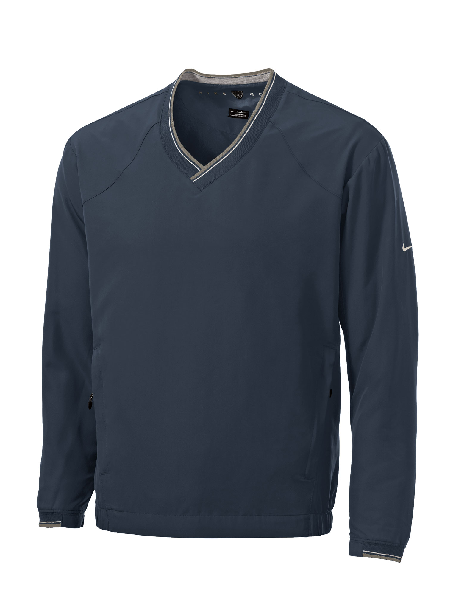 Custom Nike Mens V Neck Windshirt W Trimmed Collar