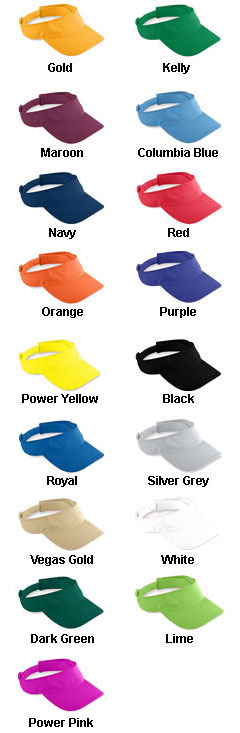 Adult Athletic Mesh Visor - All Colors