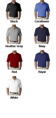 UltraClub Luxurious Egyptian Mens Cotton Polo - All Colors