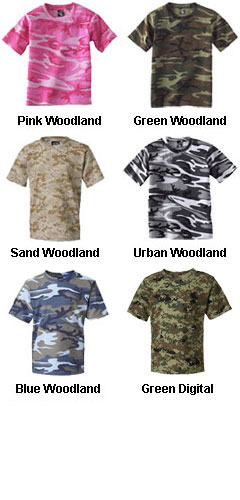 Youth Code V Camouflage T-Shirt - All Colors