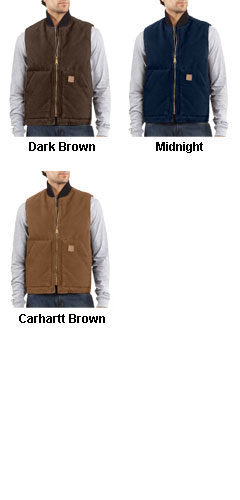 Carhartt Sandstone Vest With Arctic Quilt Lining - All Colors