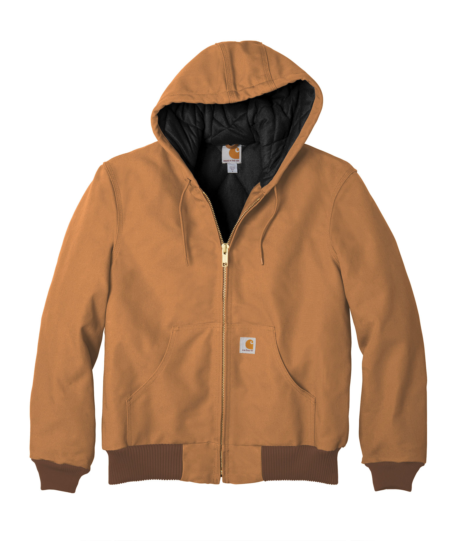 Carhartt Duck Active Jacket with Quilted Flannel