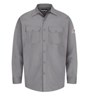 Custom Bulwark® Mens CAT 1 Button Front Work Shirt
