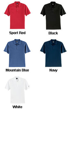 Mens NIKE Golf Dri-FIT UV Textured Sport Shirts - All Colors