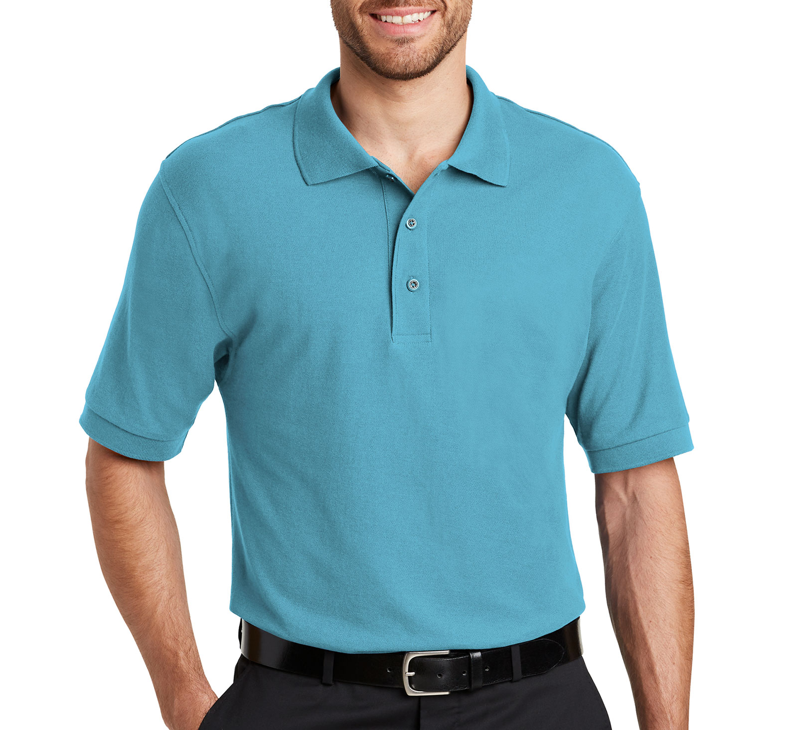 Custom silk touch polo shirt tall sizes mens for Polo shirts tall sizes