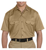 Dickies Mens Short Sleeve Twill Workshirt