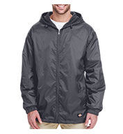 Custom Dickies Adult Fleece-Lined Hooded Ripstop Jacket Mens