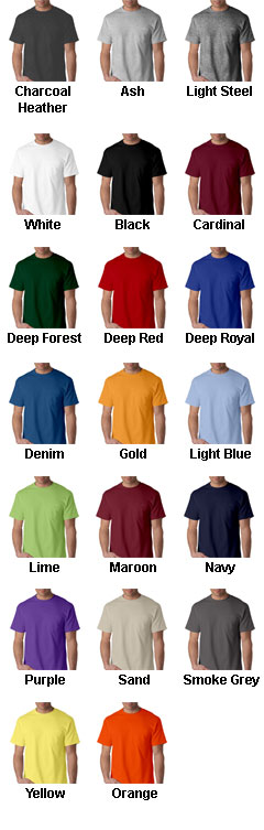 Hanes 100% Cotton Pocket Beefy-T - All Colors