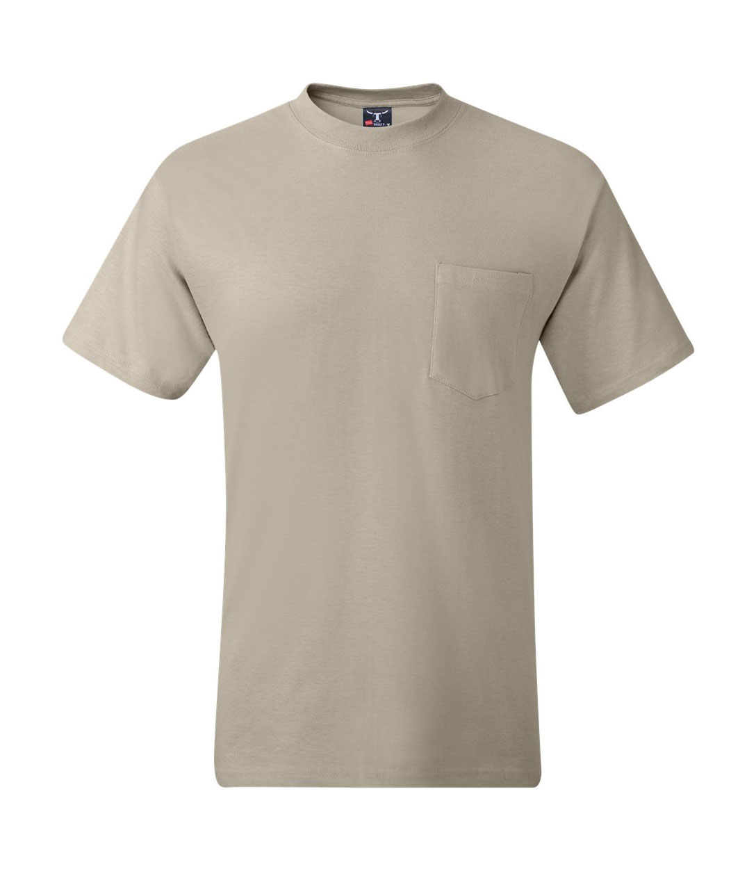 Hanes 100% Cotton Mens Pocket Beefy-T