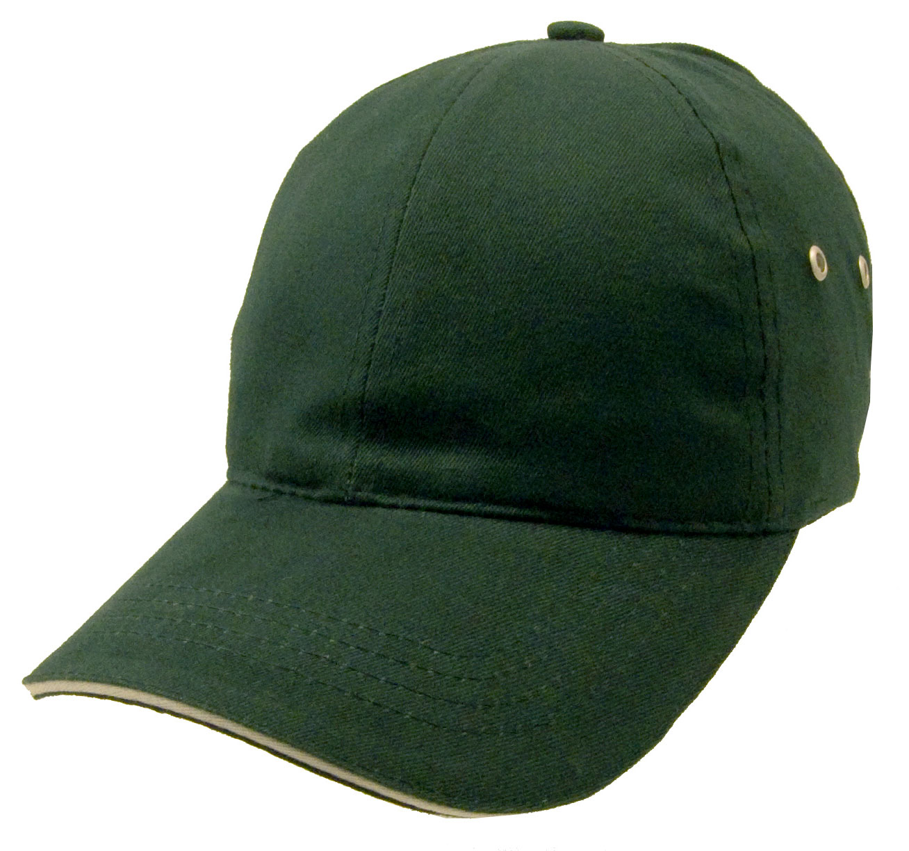 Constructed Lightweight Brushed Cotton Twill Sandwich Cap