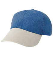 Custom Unconstructed Washed Denim Cap
