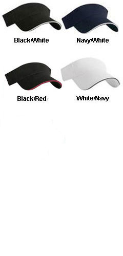Brushed Cotton Twill Sandwich Visor - All Colors