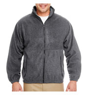Custom UltraClub Mens Iceberg Fleece Full-Zip Jacket