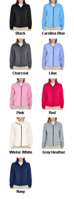 UltraClub Ladies Iceberg Fleece Full-Zip Jacket - All Colors