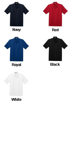Mens Poly-Charcoal Blend PiqueSport Shirt - All Colors