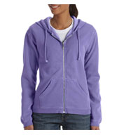 Garment-Dyed Ladies Full-Zip Hood