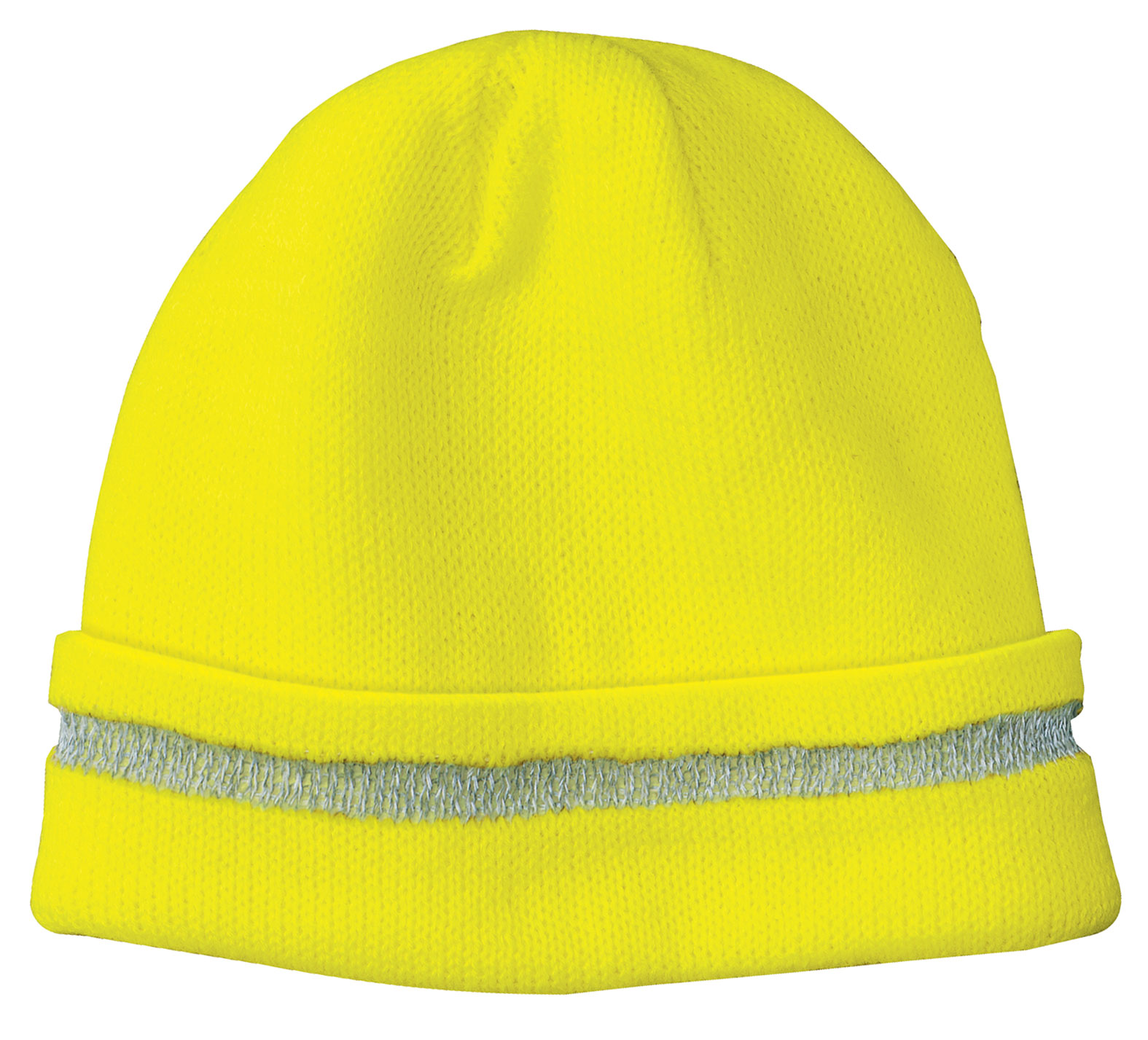 Safety Beanie with Reflective Stripe