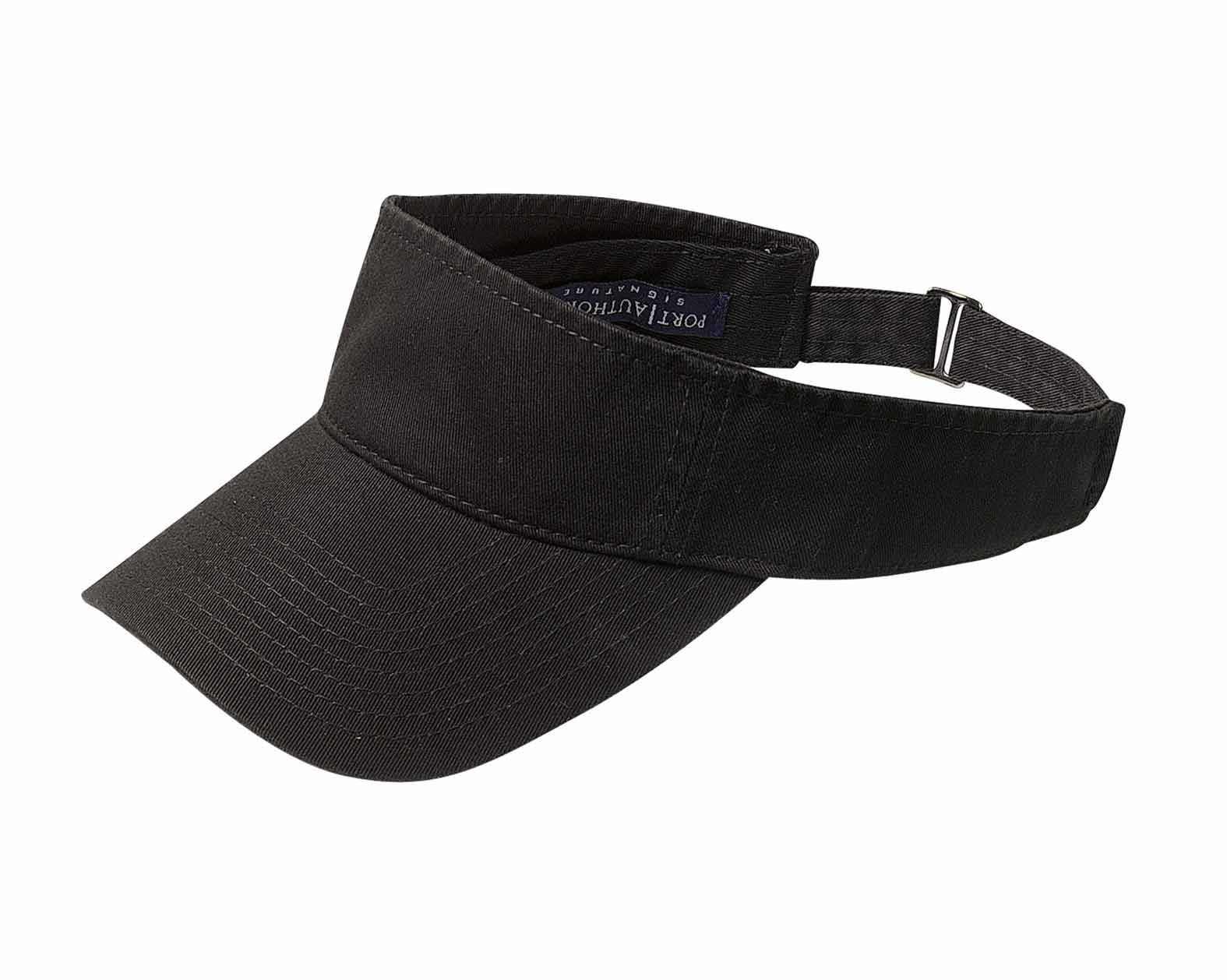 Fashion Visor with Adjustable Hook and Loop Back