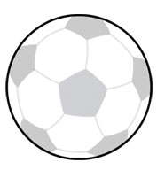 Custom Soccer Ball SportsShape Colorplast Sign