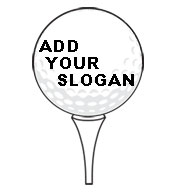 Custom Golf Ball Tee SportsShape Colorplast Sign