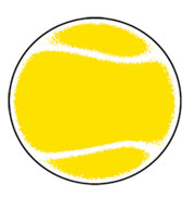 Tennis Ball SportsShape Colorplast Sign