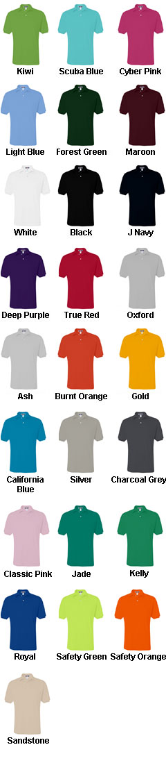 Jerzees Mens 50/50 Jersey Knit Polo with SpotShield™ - All Colors
