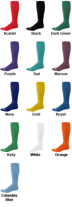 Youth Solid Multi-Sport Game Socks - All Colors