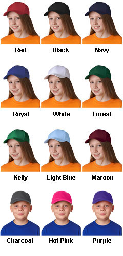 Youth Classic Cut Cotton Twill Cap  - All Colors