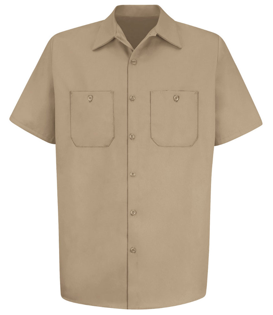 Red Kap Mens 100% Cotton Short Sleeve Uniform Shirt