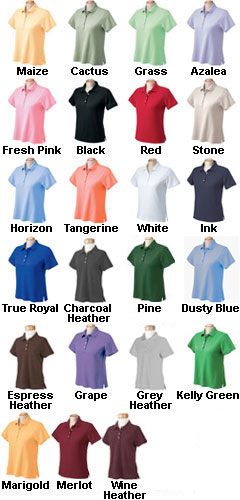 Womens Performance Plus Pique Logo Polo - All Colors