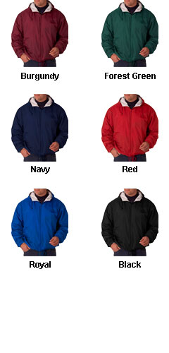 Mens Hooded Jacket with Ash Fleece Lining - All Colors