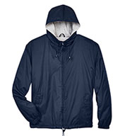Custom UltraClub Adult Fleece-Lined Hooded Jacket