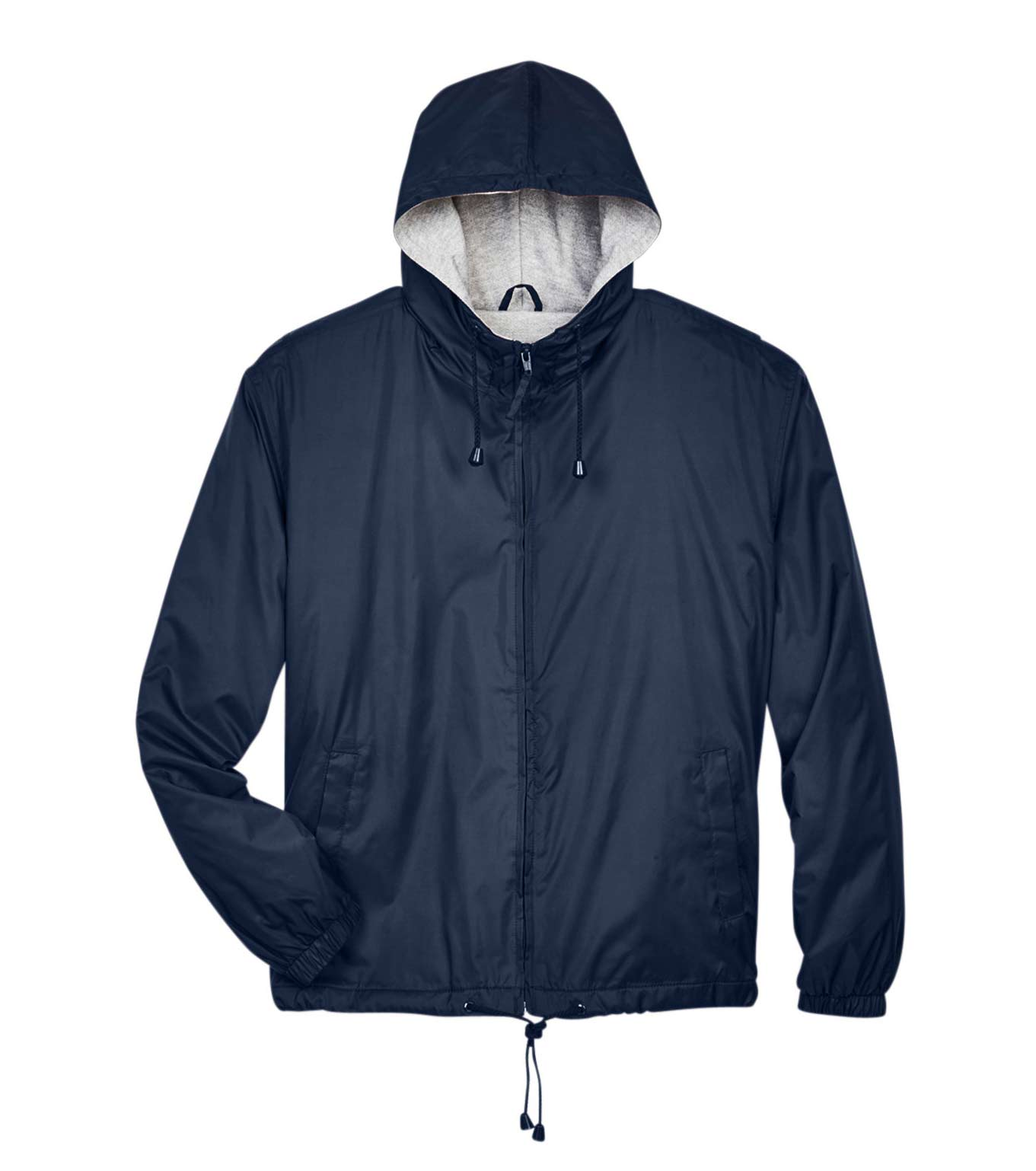 Mens Hooded Jacket with Ash Fleece Lining