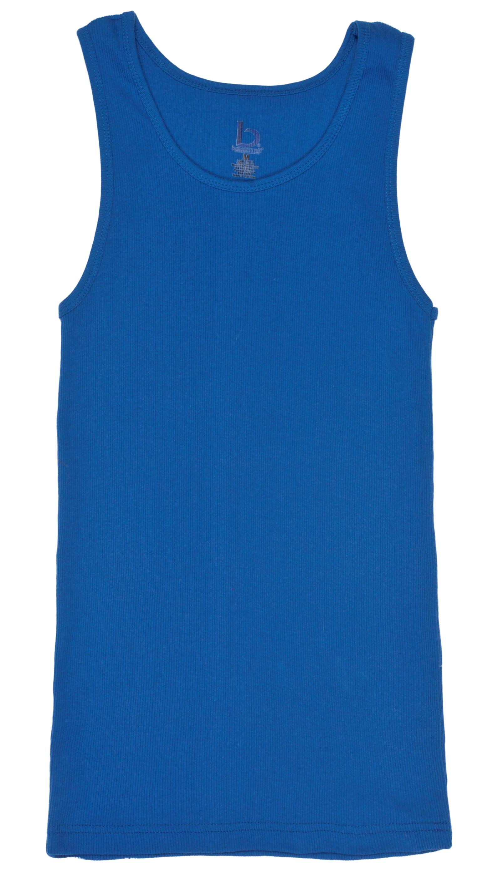 Girls Youth Ribbed Boy Beater Tank