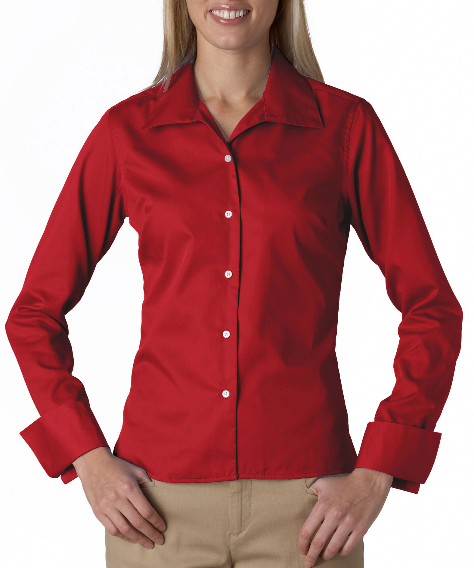 UltraClub Ladies Stain Resistant Whisper Elite Twill Shirt