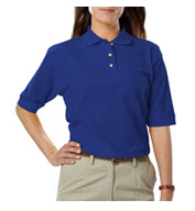 Custom Blue Generation Ladies Teflon Pique Polo