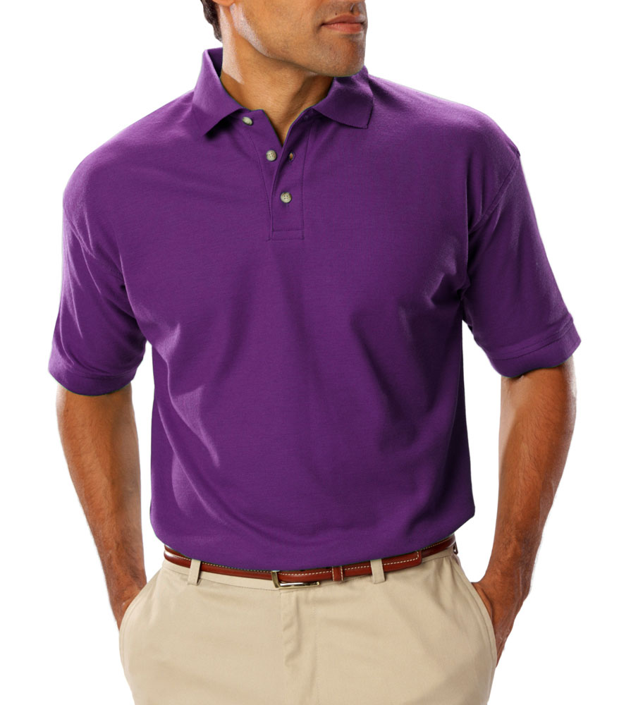Mens Teflon Treated  Pique Polo NO Pocket