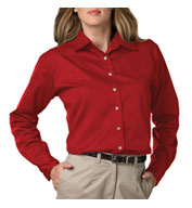 Custom Ladies Long Sleeve Teflon Twill Shirt