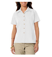 Custom Blue Generation Ladies Short Sleeve Teflon Twill Shirt