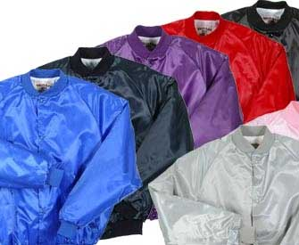 Youth Pro-Satin Baseball Jacket with Solid Trim and Flannel Lining - All Colors