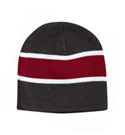 Custom Sportsman Striped Knit Beanie